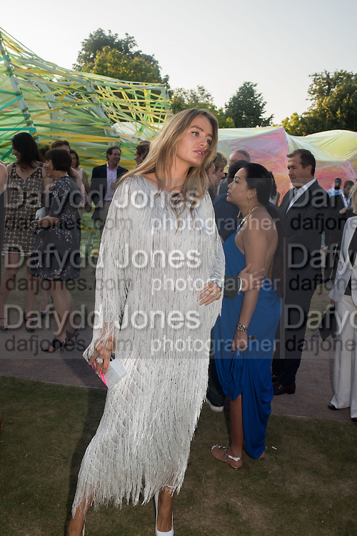 MASHA MARKOVA;Serpentine's Summer party co-hosted with Christopher Kane. 15th Serpentine Pavilion designed by Spanish architects Selgascano. Kensington Gardens. London. 2 July 2015.