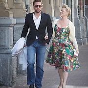 NLD/Amsterdam/20150412 - Inloop premiere The Sunshine Boys, Bridget Maasland en Jelle de Jong