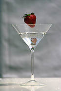 Stawberry in Martini Glass