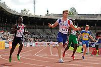 ATHLETICS - TEAM EUROPEAN CHAMPIONSHIPS 2011 - STOCKHOLM (SWE) - 18-19/06/2011 - PHOTO : STEPHANE KEMPINAIRE / DPPI - <br /> 100 M MEN - WINNER - CHRISTOPHE LEMAITRE (FRA)
