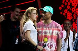 July 6, 2017 - Hamburg, Hamburg, Deutschland - Shakira und Pharrell Williams beim Global Citizen Festival anlässlich des G20-Gipfel in der Barclaycard Arena. Hamburg, 06.07.2017 (Credit Image: © Future-Image via ZUMA Press)