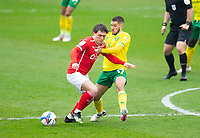 Football - 2020 / 2021 Sky Bet Championship - Barnsley vs Norwich City - Oakwell<br /> <br /> Callum Styles of Barnsley vies with Emiliano Buendia of Norwich City<br /> <br /> Credit :COLORSPORT/BRUCE WHITE