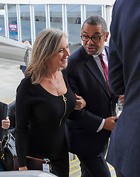 Conservative Party Chairman James Cleverly arrives for Home Secretary Priti Patel's keynote speech with his wife Susannah.<br /> <br /> © Dave Johnston / EEm