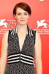 August 29, 2018 - Venice, Venetien, Italy - Claire Foy during the 'First Man' photocall at the 75th Venice International Film Festival at the Palazzo del Casino on August 29, 2018 in Venice, Italy (Credit Image: © Future-Image via ZUMA Press)