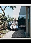 group photo of seniors in garden backyard