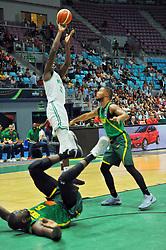 September 15, 2017 - Tunis, Tunisia - Ochefu Daniel(32)of Nigeria during the semi-final of FIBA AfroBasket 2017....Afrobasket 2017: Semifinal: Senegal eliminated by Nigeria who find Tunisia in the final  (Credit Image: © Chokri Mahjoub via ZUMA Wire)