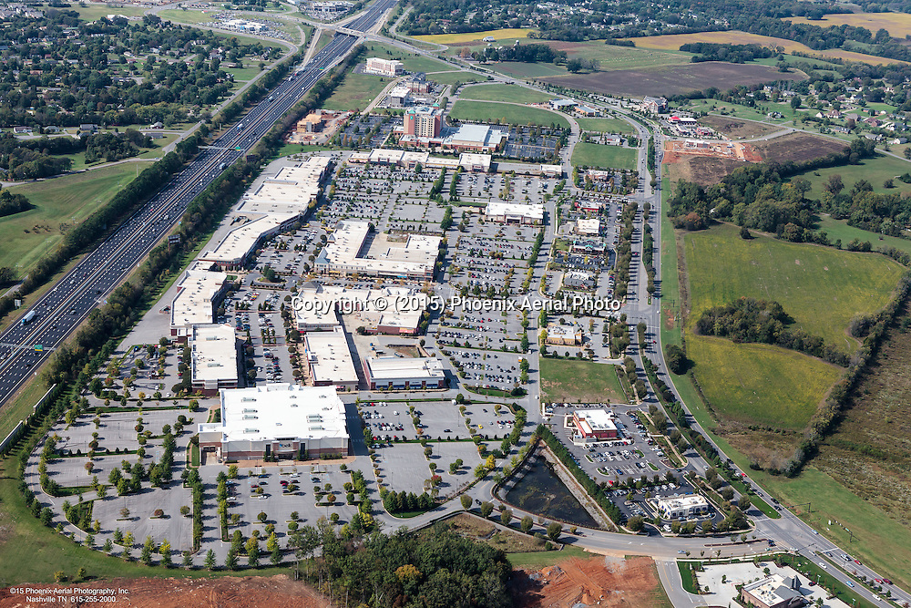 Aerial Photo Of The Avenue Murfreesboro. The Avenue Is A Retail Shopping Center Located In Murfreesboro Tennessee.