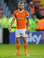 Blackpool's Jay Spearing<br /> <br /> Photographer Kevin Barnes/CameraSport<br /> <br /> The EFL Sky Bet Championship - Blackpool v Peterborough United - Saturday 2nd November 2019 - Bloomfield Road - Blackpool<br /> <br /> World Copyright © 2019 CameraSport. All rights reserved. 43 Linden Ave. Countesthorpe. Leicester. England. LE8 5PG - Tel: +44 (0) 116 277 4147 - admin@camerasport.com - www.camerasport.com