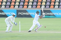 Johannesburg 20-12-18. South Africa Invitation XI vs Pakistan three-day match at Sahara Willowmoore Park, Benoni. Day 2.  South African wicket keeper Rivaldo Moonsamy and Pakistanbatsman Babar Azam during the afternoon session. Picture: Karen Sandison/African News Agency(ANA)