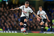Toby Alderweireld of Tottenham Hotspur in action. Barclays Premier league match, Chelsea v Tottenham Hotspur at Stamford Bridge in London on Monday 2nd May 2016.<br /> pic by Andrew Orchard, Andrew Orchard sports photography.