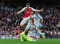Football - 2016 / 2017 Premier League - Arsenal vs. Sunderland<br /> <br /> Aaron Ramsey of Arsenal is foiled by Jordan Pickford at The Emirates.<br /> <br /> COLORSPORT/ANDREW COWIE