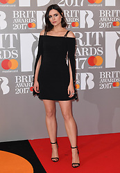 Capitol Presenter Lilah Parsons attending the BRIT Awards 2017, held at The O2 Arena, in London.<br /><br />Picture date Tuesday February 22, 2017. Picture credit should read Doug Peters/ EMPICS Entertainment. Editorial Use Only - No Merchandise.
