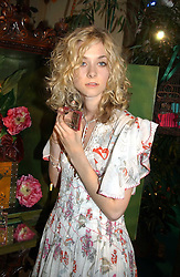 Model PORTIA FREEMAN at a party to celebrate the launch of the new Matthew Williamson fragrance held at Harvey Nichols, Knightsbridge, London on 14th June 2005.<br />