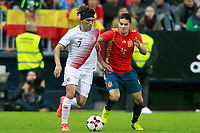 Spain's Marc Bartra (r) and Costa Rica's Cristian Bolanos during international friendly match. November 11,2017.(ALTERPHOTOS/Acero)