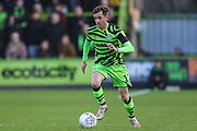 Forest Green Rovers Elliott Frear(17) runs forward during the EFL Sky Bet League 2 match between Forest Green Rovers and Salford City at the New Lawn, Forest Green, United Kingdom on 18 January 2020.
