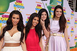 Kim Kardashian, Kourtney Kardashian, Kendall Jenner, Kylle Jenner, The 2011 Kids Choice Awards at USC's Galen Center in Los Angeles, CA, USA, on April 2, 2011. (Pictured: Kim Kardashian, Kourtney Kardashian, Kendall Jenner, Kylle Jenner). Photo by Baxter/ABACAPRESS.COM    269717_021