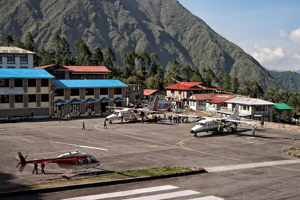 NEPAL. Everest Region, Lukla. May 20th, 2012. Lukla Airport.