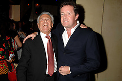 Left to right, LORD LEVY and PIERS MORGAN at a party to celebrate the publication of Piers Morgan's book 'Don't You Know Who I Am?' held at Paper, 68 Regent Street, London W1 on 18th April 2007.<br /><br />NON EXCLUSIVE - WORLD RIGHTS
