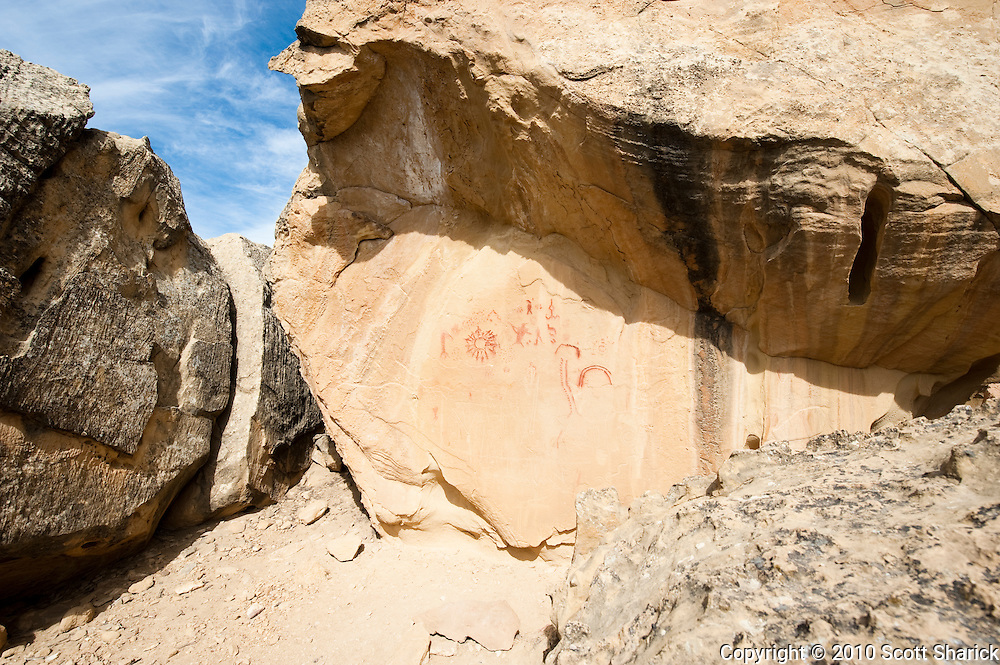 The 'Circle of Frinds' pictograph in Utah. Missoula Photographer