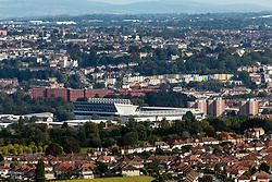 General View of Ashton Gate from Dundry Hill - Rogan/JMP - 11/09/2020 - Ashton Gate Stadium - Bristol, England - Bristol City v Coventry City - Sky Bet Championship.