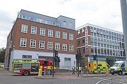 ©Licensed to London News Pictures 16/07/2020     <br /> Bromley, UK. This building has a cordon around it. A large emegency response in Bromley town Centre as two people are taken ill. A Bromley address has been evacuated due to a suspicious package.Photo credit: Grant Falvey/LNP
