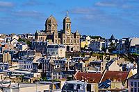 France, Manche (50), Granville, la ville basse et l'église Saint Paul // France, Normandy, Manche department, Granville, Saint Paul church