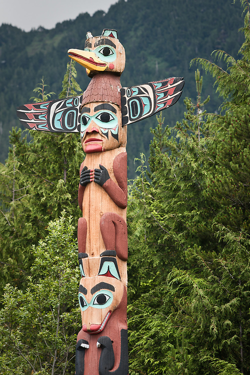 Totems at Saxman Totem Park, Saxman, Alaska