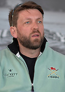Putney. London,  Great Britain.<br /> CUWBC, Chief Coach, Rob BAKER. at the pre race press conference.<br /> 2016 Tideway Week, Putney. Putney Embankment, Championship Course. River Thames.<br /> <br /> Friday  25/03/2016 <br /> <br /> [Mandatory Credit; Peter SPURRIER/Intersport-images]