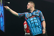 Daryl Gurney during the Unibet Premier League darts at Motorpoint Arena, Cardiff, Wales on 20 February 2020.