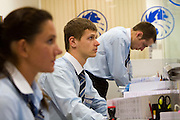 Moscow, Russia, 16/06/2006..Staff and customers at a city centre branch of Russky Standart bank.