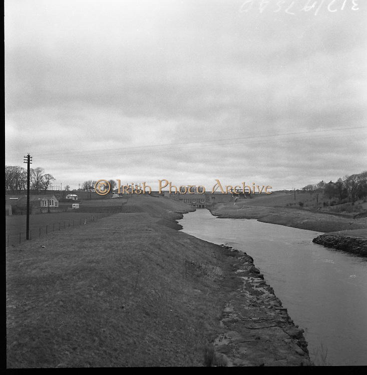 Views - Towns of Ireland - Erne Water Scheme and River, Ballyshannon, Co. Donegal.15/03/1957