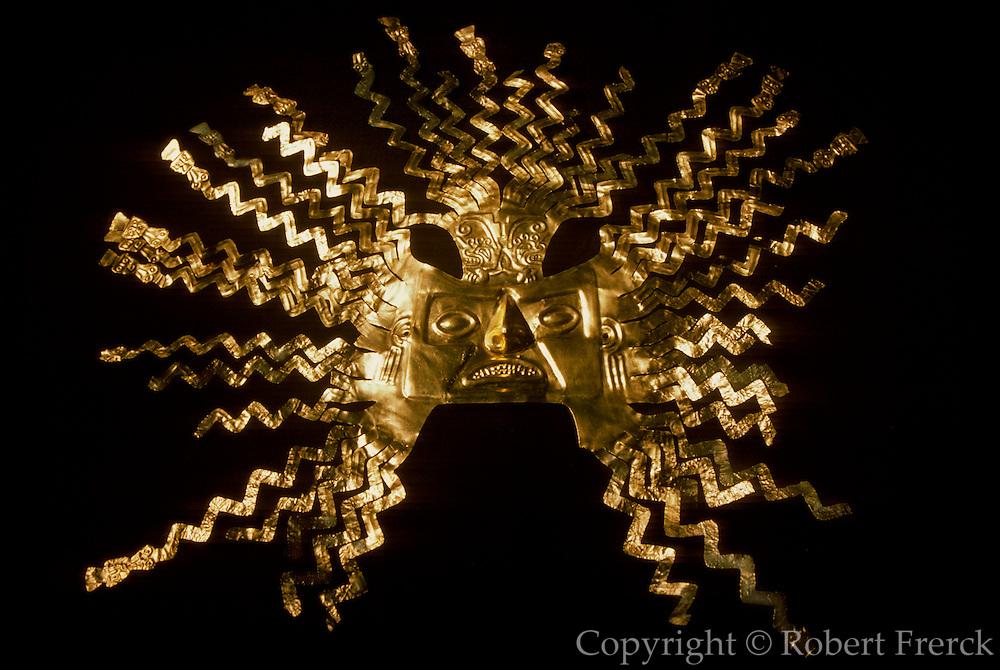 ECUADOR, PREHISPANIC La Tolita Culture, Gold Diadem Crown