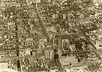 1930 Looking west at Hollywood and Hollywood Blvd.