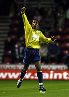 Fotball<br /> Foto: BPI/Digitalsport<br /> NORWAY ONLY<br /> <br /> 27/10/2004<br /> Southampton v Colchester United<br /> Carling Cup 3rd Round, St Mary's Stadium<br /> <br /> Neil Danns celebrates after making it 1-0 to Colchester