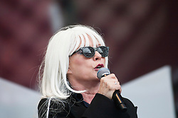 Debbie Harry, lead singer of the American rock band Blondie, play on the main stage.Rockness, Sunday 13th June..Pic ©2010 Michael Schofield. All Rights Reserved.