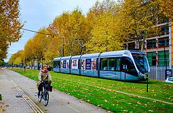 Cyclist on the Allée Jules Guesde, Toulouse, France<br /> <br /> (c) Andrew Wilson | Edinburgh Elite media