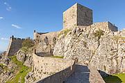 Historic castle medieval village of Marvão, Portalegre district, Alto Alentejo, Portugal, Southern Europe