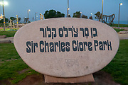 Charles Clore Park between Tel Aviv and Jaffa. This park will be used as a camping grounds for the 2019 Eurovision music festival
