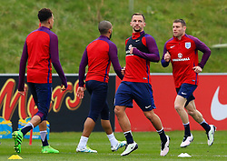 England's Danny Drinkwater (Leicester City) warms up with his team mates - Mandatory byline: Matt McNulty/JMP - 22/03/2016 - FOOTBALL - St George's Park - Burton Upon Trent, England - Germany v England - International Friendly - England Training and Press Conference
