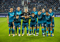 SAINT PETERSBURG, RUSSIA - NOVEMBER 04: Zenit St Petersburg assemble for their team photo before the UEFA Champions League Group F stage match between Zenit St. Petersburg and SS Lazio at Gazprom Arena on November 4, 2020 in Saint Petersburg, Russia. (Photo by MB Media)