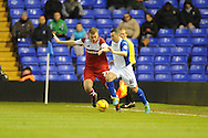 Middlesbrough's Ben Gibson battles with Birmingham City's  Paul Caddis (r) during the Skybet football league championship match, Birmingham city v Middlesbrough at St.Andrew's in Birmingham, England on Sat 7th Dec 2013. pic by Jeff Thomas/Andrew Orchard sports photography.