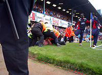 Photo: Alan Crowhurst.<br />Portsmouth v West Ham United. The Barclays Premiership. 14/10/2006. Police evict a fan.