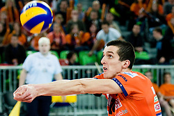 Milan Rasic of ACH Volley during volleyball match between ACH Volley (SLO) and Zenit Kazan (RUS) in Playoffs 12 Round of 2011 CEV Champions League, on February 2, 2011 in Arena Stozice, Ljubljana, Slovenia. (Photo By Matic Klansek Velej / Sportida.com)