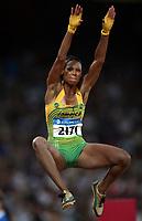 Friidrett Olympiske Leker / OL / 2008 22.08.2008 <br /> lengde , Chelsea Hammond , JAM