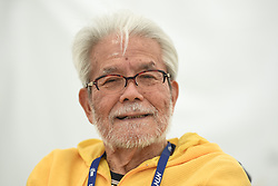 May 20, 2018 - Sakai, Osaka, Japan - Yoshizo Shimano, a former President of Shimano Inc., pictured ahead of the opening stage, 2.6km Individual Time Trial in Daisen Park, Sakai..On Sunday, May 20, 2018, in Sakai,  Osaka Prefecture, Japan. (Credit Image: © Artur Widak/NurPhoto via ZUMA Press)