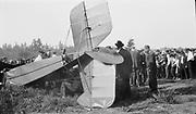 8903-31D Avro airplane crash. May 30, 1921 at Rose City Speedway, NE Portland, Oregon