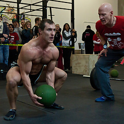 Ball slam WOD at Winter WOD Fest CrossFit competition. Crossfit image, picture, photo, photography of health, elite, exercise, training, workouts, WODs, taken at Progressive Fitness CrossFit,Colorado Springs, Colorado, USA