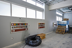 Construction to house nursing in the former Garfield Book store, Thursday, July 2, 2020, at PLU. (Photo/John Froschauer)