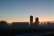 Morning fog at Smiley Farm in the Town of Wallkill, N.Y., on Oct. 23, 2019.