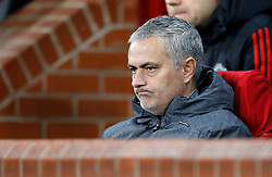 Manchester United manager Jose Mourinho before the UEFA Champions League match at Old Trafford, Manchester.